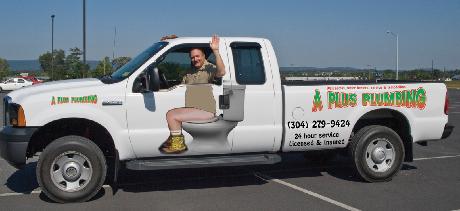 A Local Plumbers Truck Decal Funny
